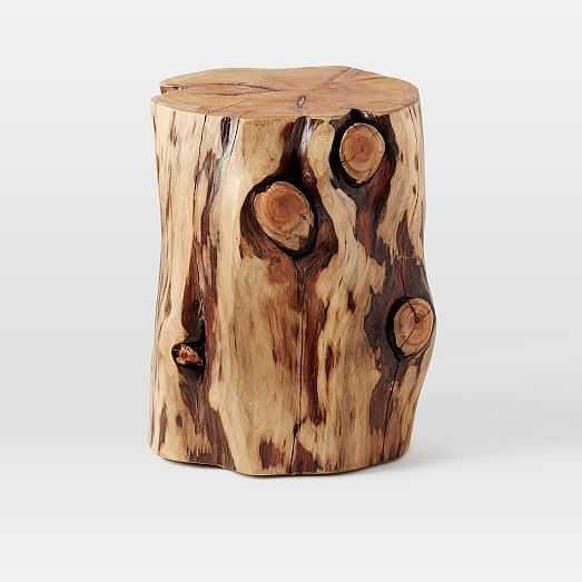 Natural Tree Stump Side Table - West Elm