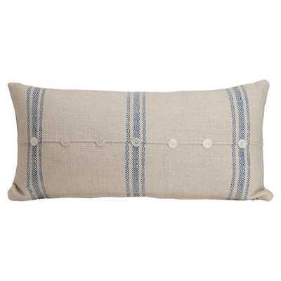 """Hampton Classic Large Skinny Cotton Lumbar Pillow - 12"""" H x 24"""" W - Down/Feather - Wayfair"""