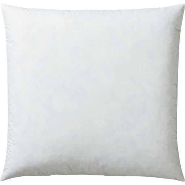 "Feather-down 20"" pillow insert - CB2"