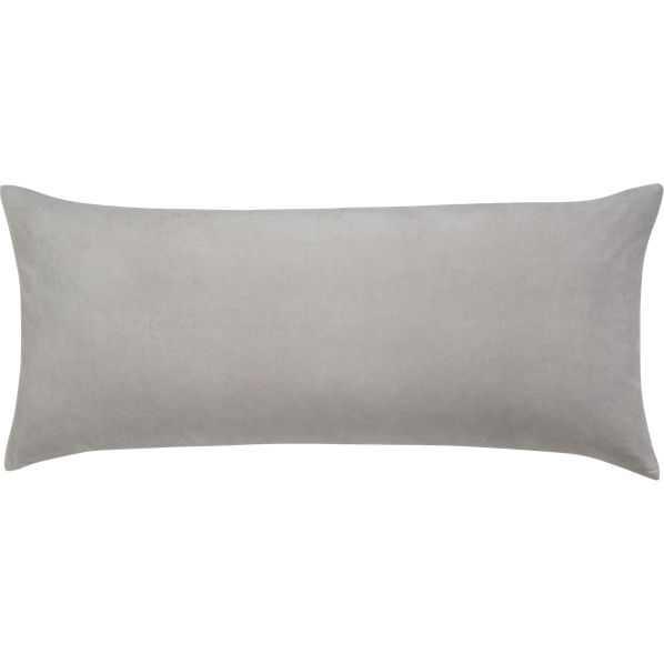 """Leisure Silver Grey Pillow 36"""" x 16"""" Pillow-Insert - CB2"""
