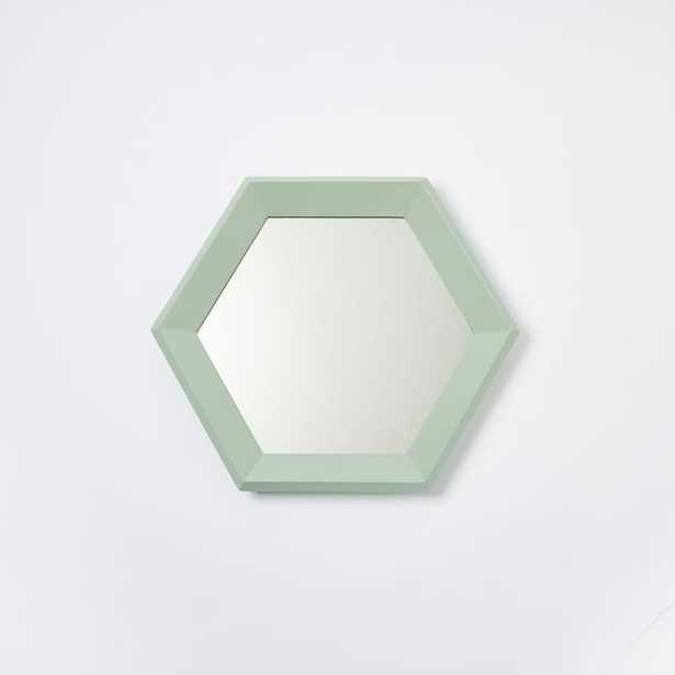 Color Wash Mirror - Hexagon (Oregano) - West Elm