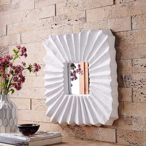Papier Mache Mirror - Ribbed - West Elm
