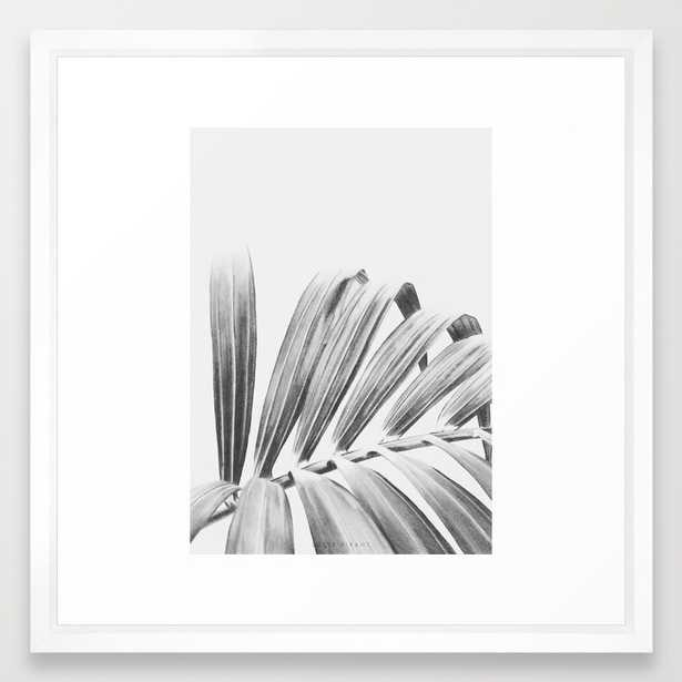"""PALM Art Print - 22"""" x 22"""" - Vector White Frame with Mat - Society6"""