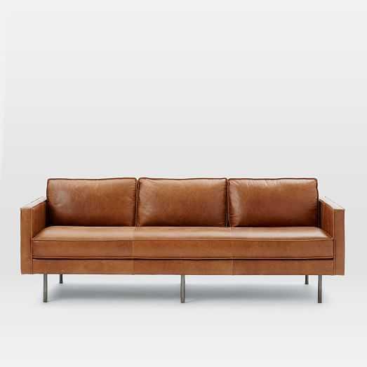 "Axel Leather 89"" Sofa - West Elm"