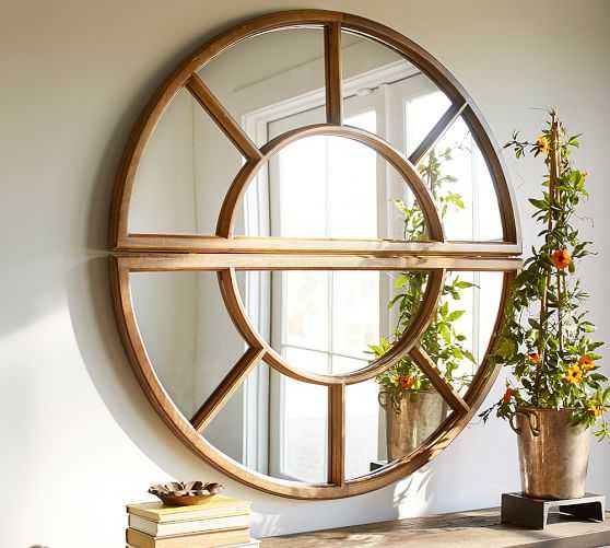 Arched Paned Mirror - Single - Pottery Barn
