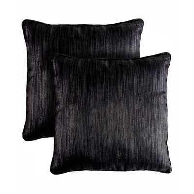 "Bling Shimmering Throw Pillow - Black - 18"" H x 18"" W - Polyester fiber fill - Wayfair"