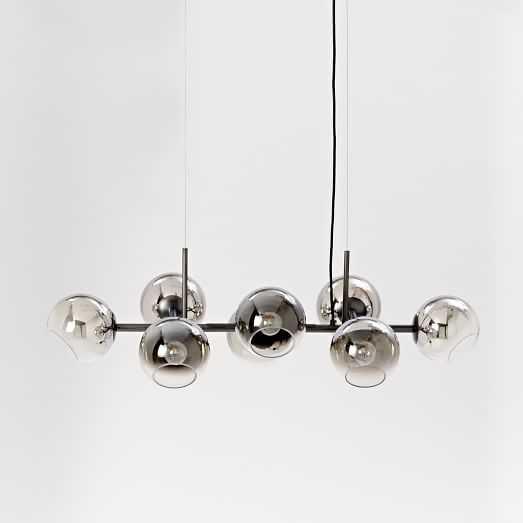 Staggered Glass Chandelier - 8-Light - Antique Bronze - West Elm