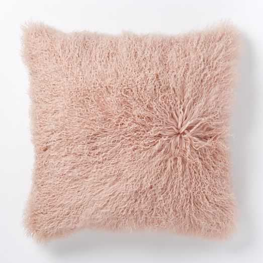 Mongolian Lamb Pillow Cover - 24x24 - Insert Sold Separately - West Elm