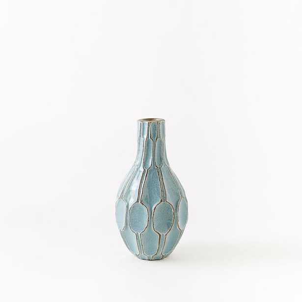 Short Teardrop Vase - Light Blue - West Elm