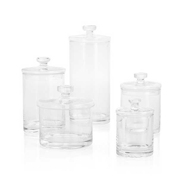 Set of 5 Glass Canisters - Crate and Barrel