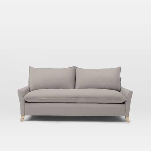 "Bliss Down-Filled Sofa - 79.5"", Linen Weave, Pebble - West Elm"
