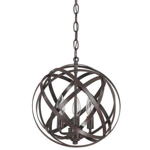 3 Light Globe Pendant - Russet - AllModern