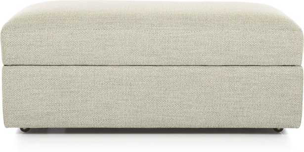 Lounge II Storage Ottoman with Casters - Taft Cement - Crate and Barrel