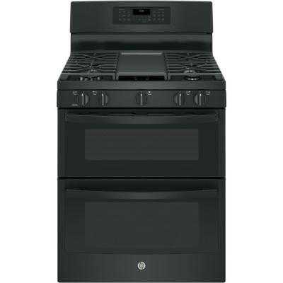 Double Oven Gas Range with Self-Cleaning Convection Oven - Home Depot