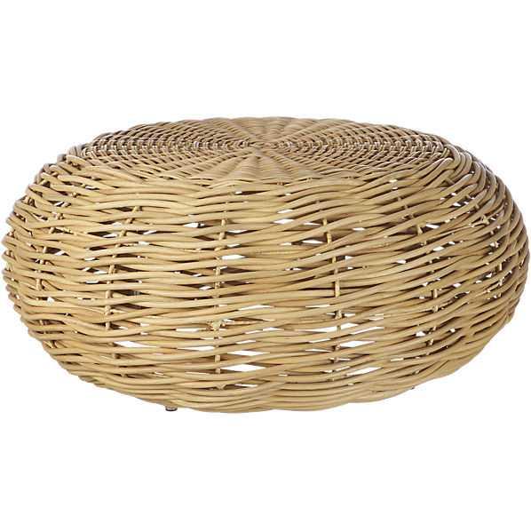 nest rattan coffee table - CB2