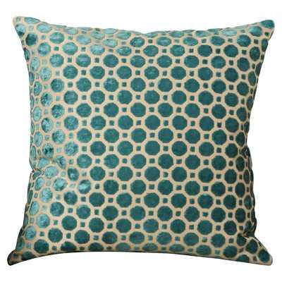 """Alton Throw Pillow -  Emerald - 18""""x18""""- Down feather blend Insert - Wayfair"""