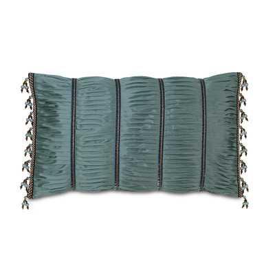 Monet Edris Mineral Ruched Down Throw Pillow 15x26 with insert - Wayfair