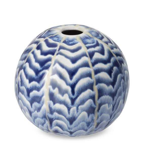 Ceramic Herringbone Round Vase - Williams Sonoma Home