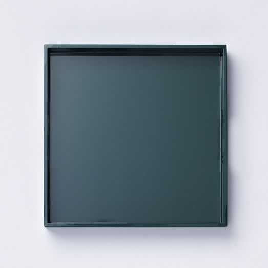 Square Lacquer Tray - Emerald Green - West Elm