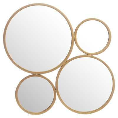 4 Circle Iron Mirror - Wayfair