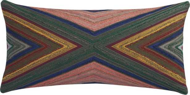"""wisdom 23""""x11"""" pillow with feather-down insert - CB2"""