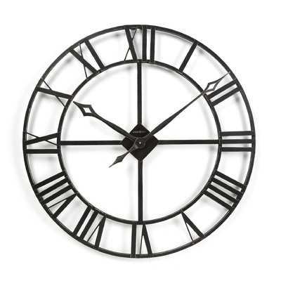 "Gallery Oversized 32"" Lacy Quartz Wall Clock - Wayfair"