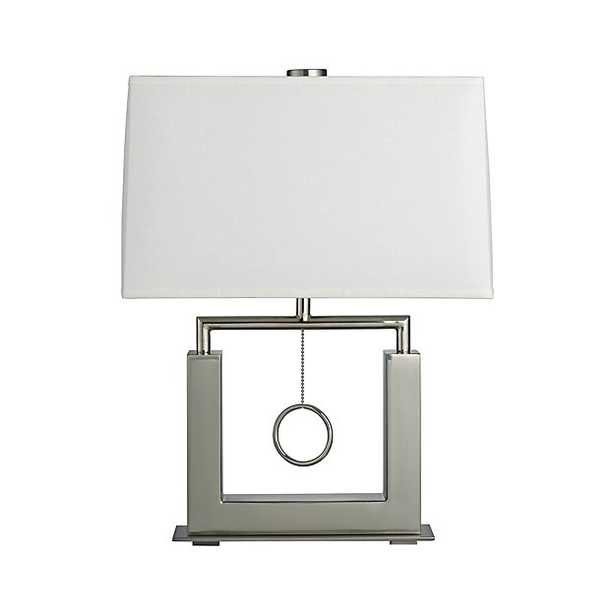 Charles Nickel Table Lamp - Crate and Barrel