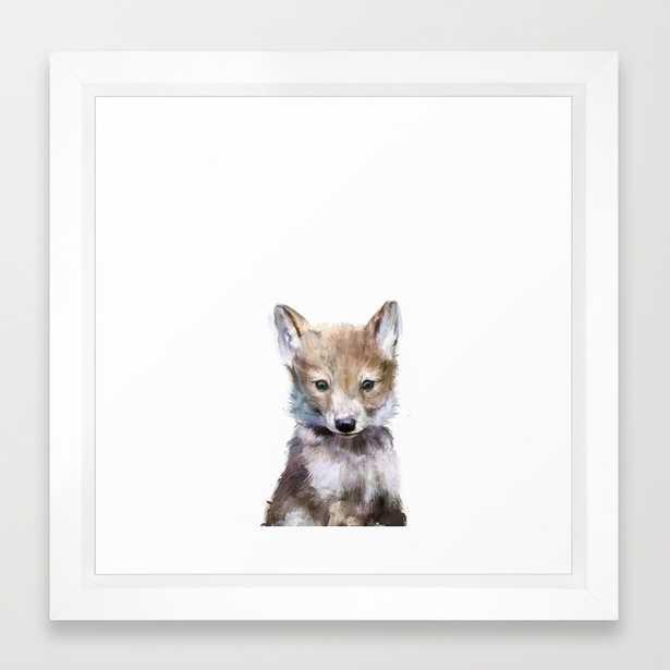"Little Wolf - FRAMED 12"" X 12"" MINI  ART PRINT - Society6"