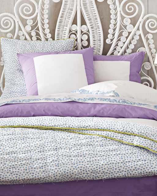 Color Frame Duvet Cover - Full/Queen - Lilac - Serena and Lily