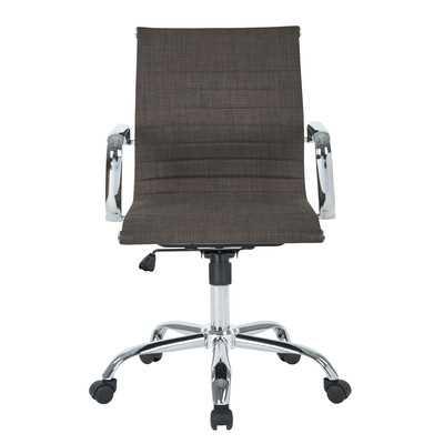 Mid-Back Executive Office Chair with Arms - Wayfair