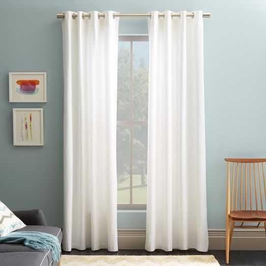 """Cotton Canvas Grommet Curtain - 96"""" - West Elm"""
