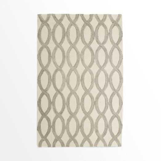 Linking Loops Wool Rug - Ivory - 6' x 9' - West Elm