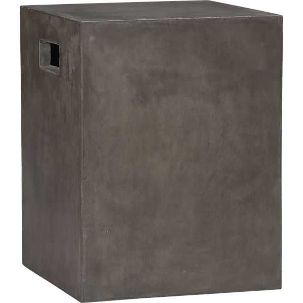 Cement grey side table - CB2