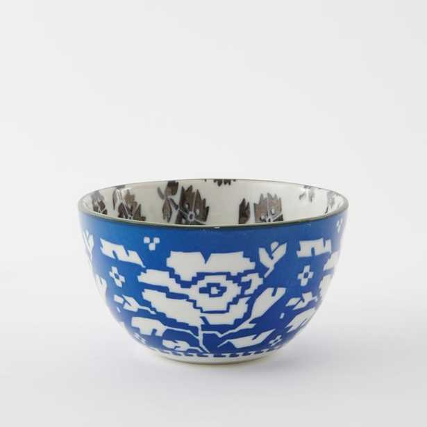 Folk Pad Printed Bowls- Blue/Black - West Elm