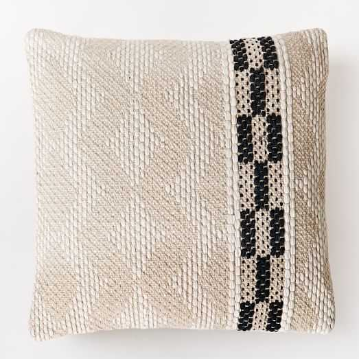"""Diamond Color Stripe Pillow Cover -20""""sq.-Insert not included - West Elm"""