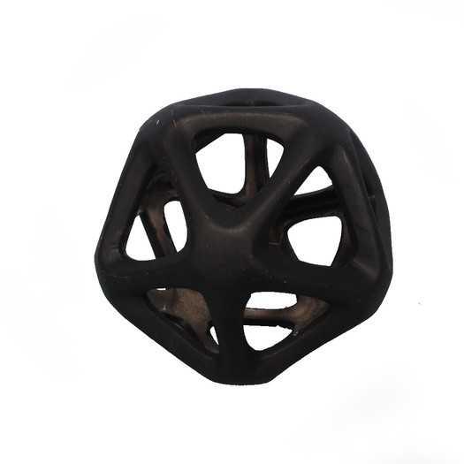Geoff Decorative Orb Geometric Cutout Sculpture - Black, Small - AllModern
