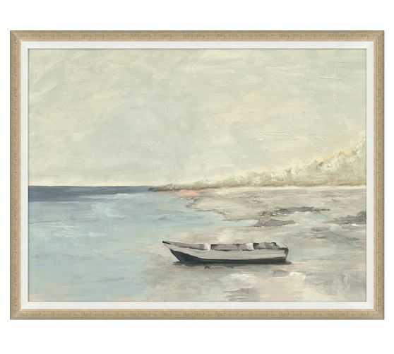 """DOCKED AT DISTANT ISLE FRAMED PRINT -  44.75""""w x 33.75""""h - Pottery Barn"""