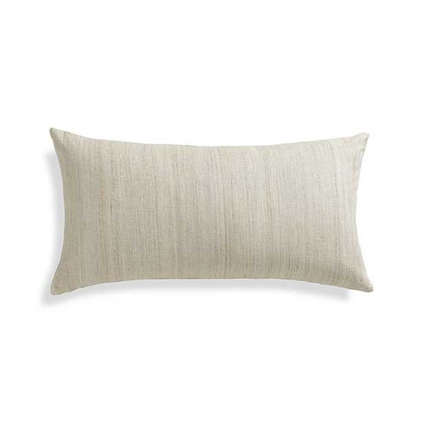 Michaela Pillow - Seasame, 24x12, Feather Insert - Crate and Barrel
