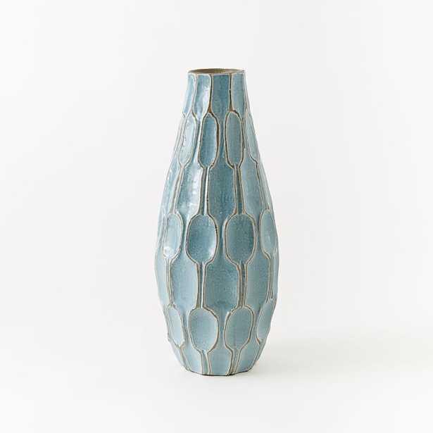 Tall Teardrop Vase - Light Blue - West Elm