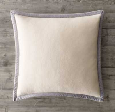 BORDERED CASHMERE PILLOW COVER - insert not included - RH
