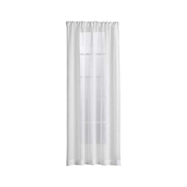 Linen Sheer White Curtain Panels - Crate and Barrel
