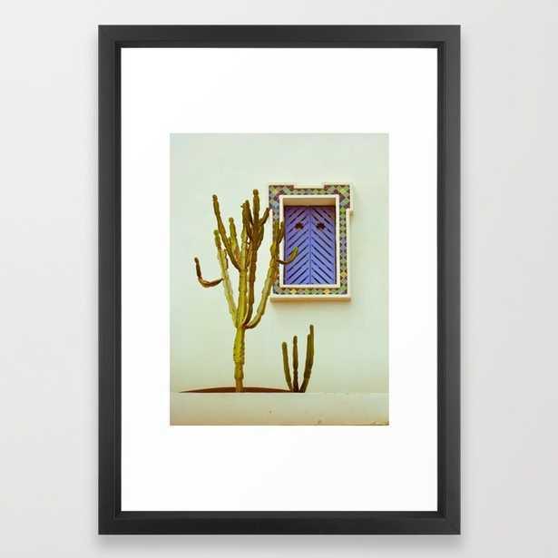 "Cactus-FRAMED ART PRINT/VECTOR BLACK SMALL (15"" X 21"") - Society6"