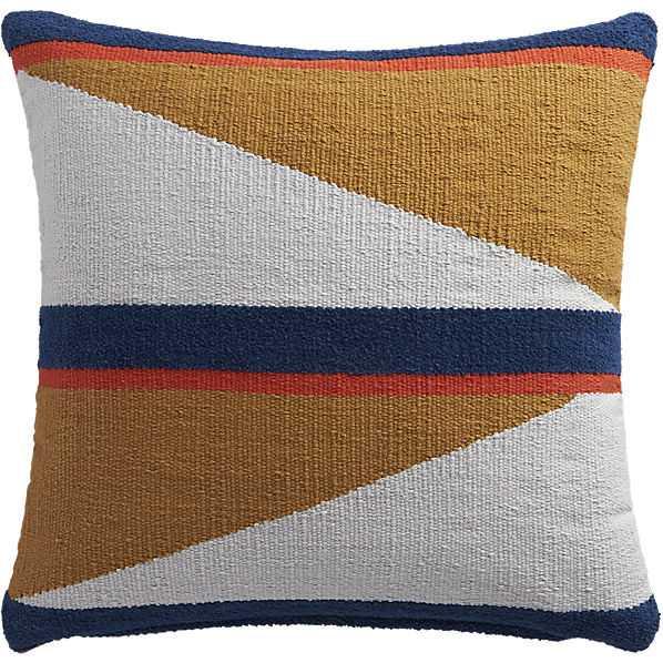 "Herron primary + shape 18"" pillow with down-alternative insert - CB2"