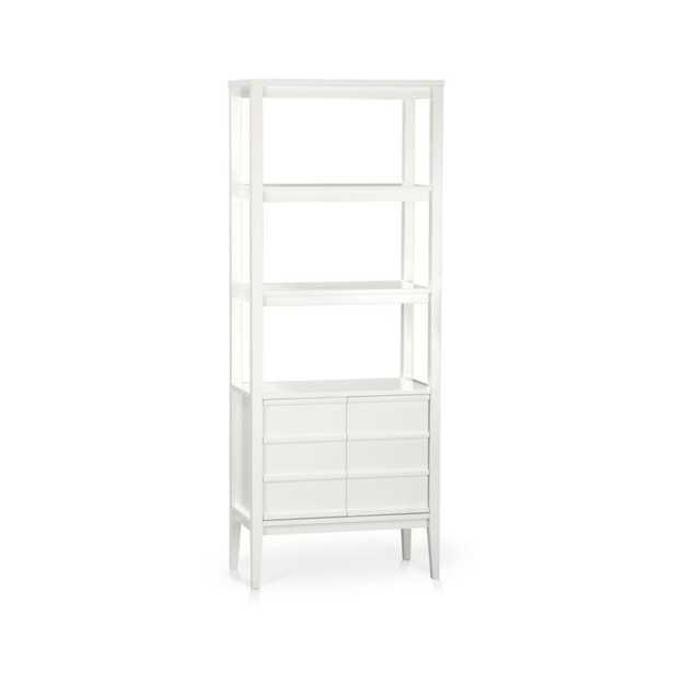 Spotlight White Bookcase - Crate and Barrel