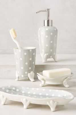 Handpainted Dots Bath Container - Tray - Anthropologie