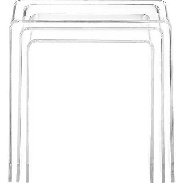 Peekaboo acrylic nesting table set (3-piece) - CB2