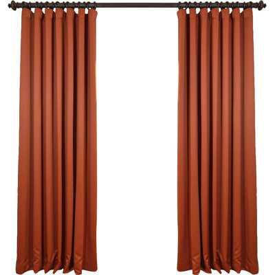 "Doublewide Plush Blackout Single Curtain Panel - Orange - 84"" L x 100"" W - Wayfair"