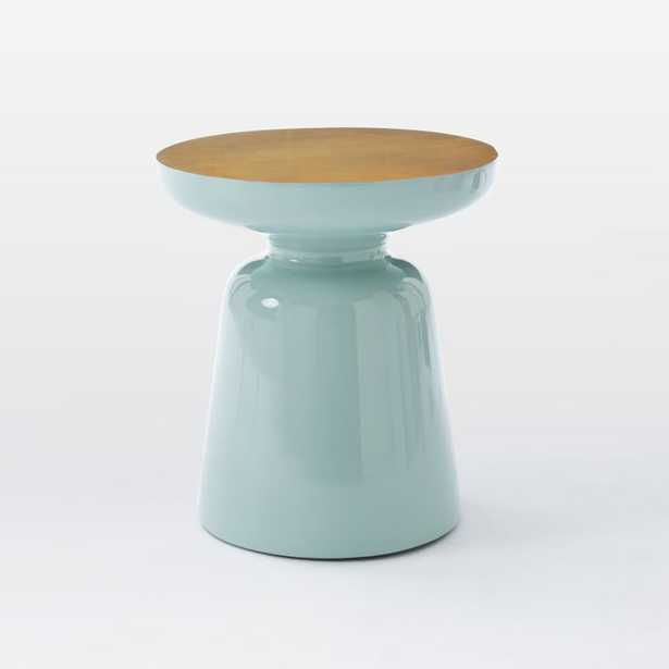 Martini Two Tone Side Table - Oregano/Antique Brass - West Elm