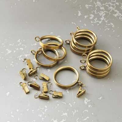 Brass Drapery Rings - Set of 10 - Ballard Designs