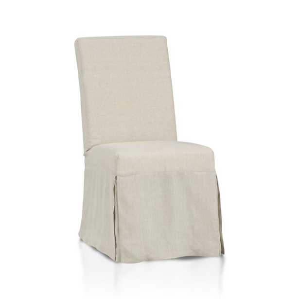 Slip Linen Slipcovered Dining Chair - Crate and Barrel
